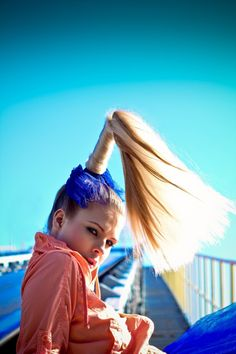 """Rainbow Dreams"" by Ann Mikitiuk. Photographer and stylist: Ann Mikitiuk. Makeup artist: Anna Maria Dziemidzik. Hair stylist: Radek Smarz."