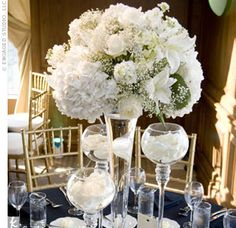 white wedding centerpieces - Google Search
