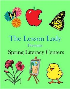 Spring Literacy Language Arts Packet for Centers! Included in this 44 page packet are six literacy centers with a fun spring theme. Available for purchase.