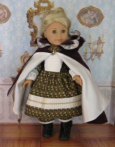 For American Girl 1850's dress pantalettes and by cupcakecutiepie, $160.00