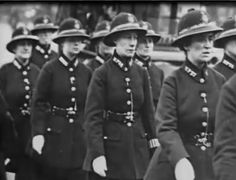Circa 1919. Metropolitan Women Police Officers, London, UK