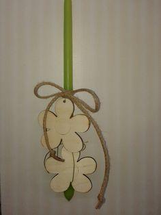 Λαμπάδα με λουλούδια