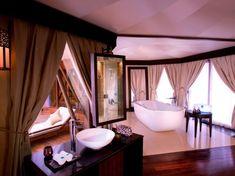 The bathroom of one of the Al Khaimah villas at Banyan Tree Al Wadi.