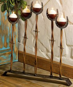 Western Rustic Candle Holders