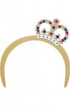 Crystal Crown Tiara - gold   £126  Tatty Devine