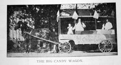 """Among the many early candy manufacturers in Portsmouth was Soper's Big Candy Wagon. William Soper, a Civil War veteran, drove his candy wagon through the streets of Portsmouth from the late 1800s until his health failed in 1913. His wife rode along delivering their candy as the """"grind organ"""" filled the air with its music."""