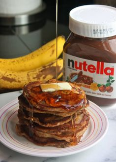 oatmeal nutella, cannella vita, breakfast idea, nutella pancak, recip galor