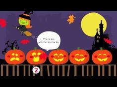 5 Little Pumpkins Sitting on a Gate : Halloween Songs for Children - YouTube