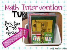 Math Intervention Tub