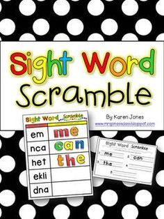 Sight Word Scramble -- An engaging magnetic letter center that practices sight words! $