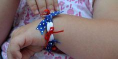 craft, baby headbands, ribbon bows, handmade bracelets, 4th of july, easi handmad, diy bracelet, handmad bracelet, kid
