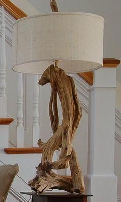 decor, drift wood furniture, driftwood lamps, idea, driftwood projects