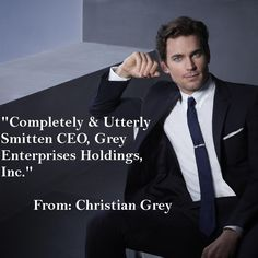 Christian Grey in the coming Fifty Shades of Grey movie
