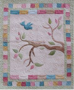 Tree of life quilt - love the bluebird:). One day I will make my own tree of life quilt.
