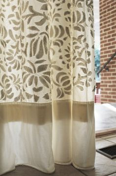 Alabama Chanin Applique Curtains