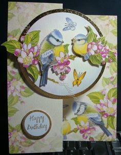 Birds card ideashunkydori, hunkydori card, bird card, crafti card, general card