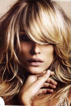 hair colors, dark hair, blond, side bangs, hair bangs, layered hair, hairstyl, fring, dream hair