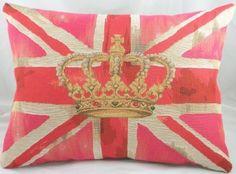 pink Union Jack pillow