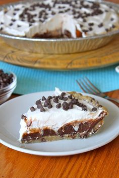Chocolate Chip Icebox Pie from The BakerMama