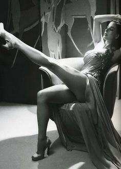 Dita stretches out her legs
