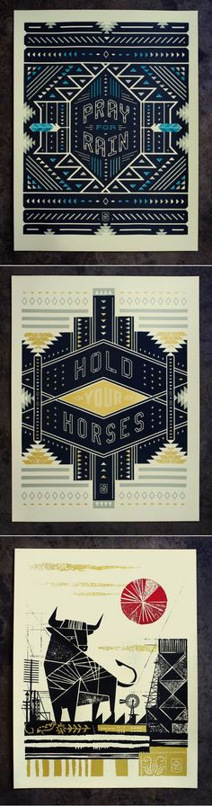 Bold graphic posters