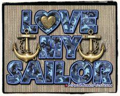 LOVE MY SAILOR! Art made originally for NavyMomShop.com Shirts. #NavyMom #NavyWife #NavyGrandma #NavyGirlfriend #NavyMomsArt.com