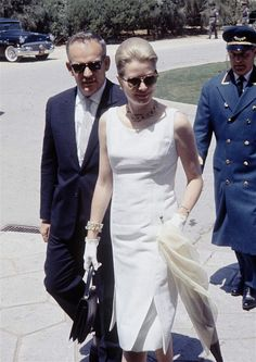 Grace Film: 14 May 1962: Prince Rainier and Princess Grace arrive in Athens to attend the wedding of Princess Sophia of Greece to Prince Juan Carlos of Spain. princess grace, princess sophia, greece, athens, grace kelli, monaco, films, amaz grace, little white dresses