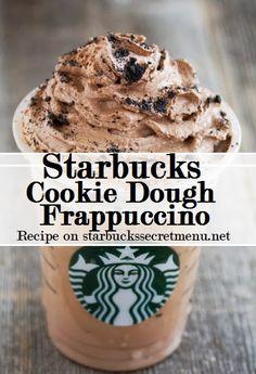 Starbucks Secret Menu Cookie Dough Frappuccino! Recipe here: http://starbuckssecretmenu.net/starbucks-secret-menu-cookie-dough-frappuccino/ Secret Starbucks Recipes, Cookie Dough Starbucks, Starbucks Cookie Dough, Secret Recipe Starbucks, Starbucks Frappuccino Recipe, Starbucks Secret Menu Recipes, Secret Menu Starbucks, Starbucks Secret Drinks, Secret Starbucks Menu