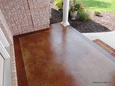 Stained Concrete Outdoor Porch – Fort Wayne – Dancer Concrete (14) | Cozy With Concrete