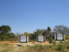 15. Painting has been completed on the first three latrines.