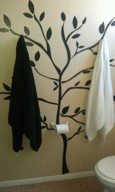 bathroom decorations, buy a house, craft, tree, toilet, hous idea, bathrooms, design idea, decor idea