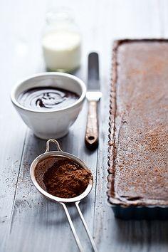 Chocolate Caramel Banana Tart