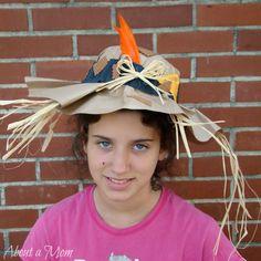 Paper Bag Scarecrow Hat