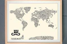 Moustache World Map