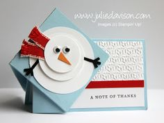Julie's Stamping Spot -- Stampin' Up! Project Ideas Posted Daily: Snowman Side Spring Card