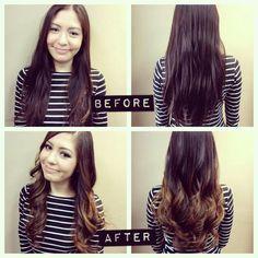 my new ombre hair beauti hair, ombr hair, ombre hair, dream hairrrrr, makeup, ombrehair, curl, park rock, hair style