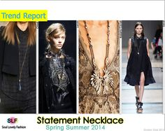 Statement #Necklace Jewellery Trend for Spring Summer 2014 #Jewellery #spring2014 #trends #Jewelry