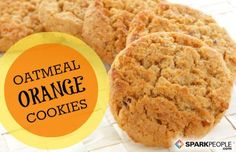 Lower-Carb Oatmeal Orange Cookies (Diabetes Friendly) | via @SparkPeople #recipe #food #holiday #Christmas #dessert