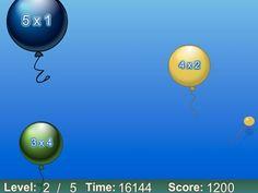 Rekenen digibord on pinterest math activities money for Ballonnen tafels