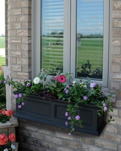 Black Window Planter Box