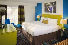 One of the extremely funky rooms in Hotel Zed!