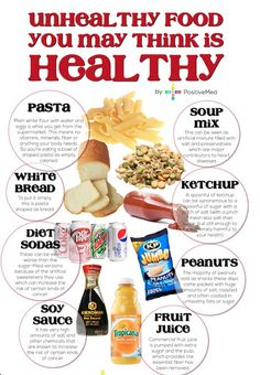 Unhealthy Food You May Think Is Healthy