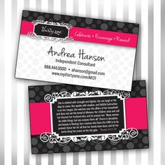 Custom ThirtyOne Double Sided Business Card by sweetmaggies. Love These.
