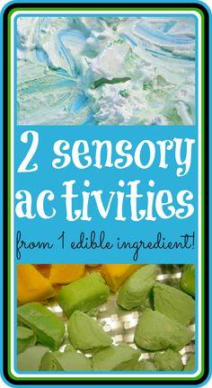 1 Ingredient = 2 Edible Toddler Sensory Activities