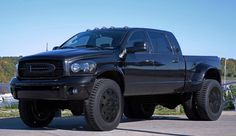 Dodge 3500, cummins, blacked out, lifted dream-vehicles
