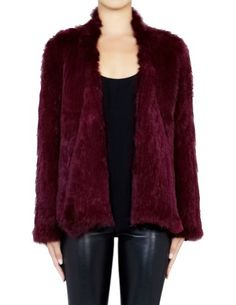 Save $505.01 on Berry Queen Women's Euro Rabbit Fur Knitted Winter Coat; only $193.99