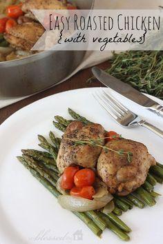 Easy Roasted Chicken Recipe   MyBlessedLife.net