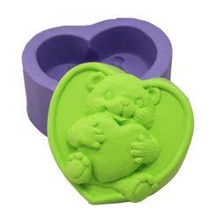 new design bear silicone soap mold