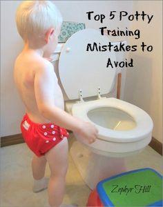 Top 5 Potty Training Mistakes to Avoid #pottytraining