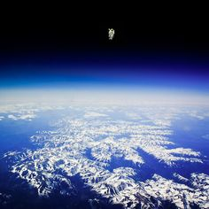Bruce McCandless made the first untethered space walk on February the 7th 1984. by Tianxiao Zhang